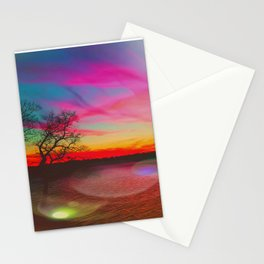 Together, we paint the sky Stationery Cards