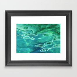 Water / H2O #67 (Water Abstract) Framed Art Print