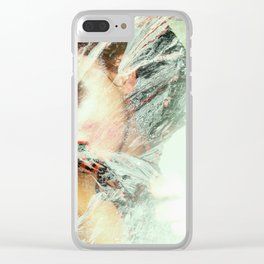 Snow Chalk Clear iPhone Case