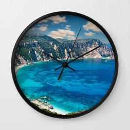The spectacular beach Petani in Kefalonia island, Greece Wall Clock