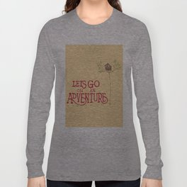 'Adventure' hand-lettered print Long Sleeve T-shirt