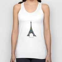 eiffel tower Tank Tops featuring eiffel tower by PINT GRAPHICS