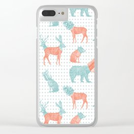 Stranger Xmas Clear iPhone Case