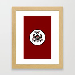 Northwest Pacific coast Kaigani Thunderbird Framed Art Print