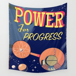 Power For Progress 1955 atomic power print. Wall Tapestry