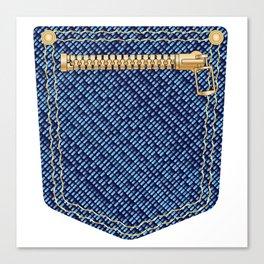 Zipper Pocket Canvas Print