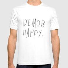 Demob Happy White MEDIUM Mens Fitted Tee