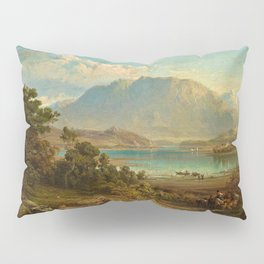 A view of Konigsee near Munich, Germany by Frederick Lee Bridell Pillow Sham
