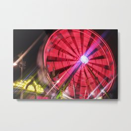 Spinning Your Wheels the ferris wheel carnival ride Metal Print