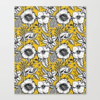 yellow pattern Canvas Prints featuring Yellow by AITCH
