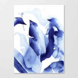 Royal Blue Palms no. 2 Canvas Print