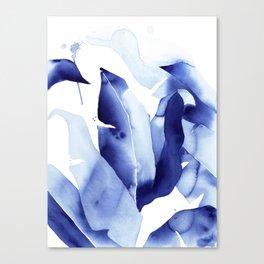Royal Blue Palms no. 2 Canvas Print