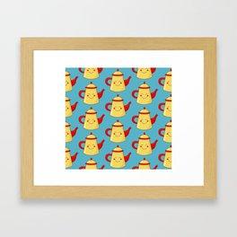 Tea pot smile Framed Art Print