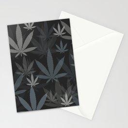 Marijuana Cannabis Weed Pot Grey Tones Stationery Cards