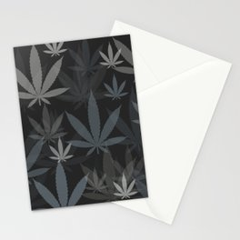Marijuana Cannabis Weed Pot Grey Tones Stationery Cards