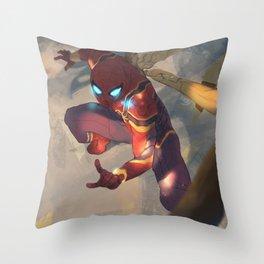 Iron Spider Throw Pillow