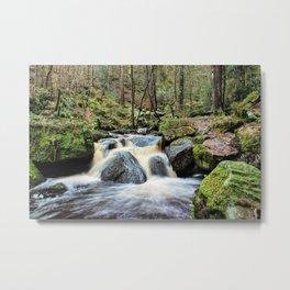 Wyming Brook Cascades Metal Print