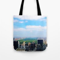 central park Tote Bags featuring Central Park by NaturallyJess