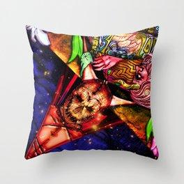 Intergalactic Guardian Key Throw Pillow