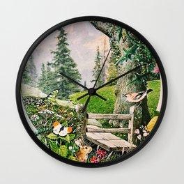 Garden Portal I Wall Clock
