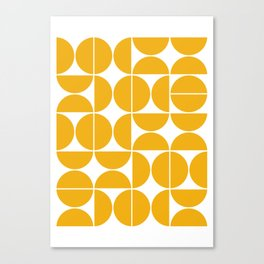 Mid Century Modern Geometric 04 Yellow Canvas Print