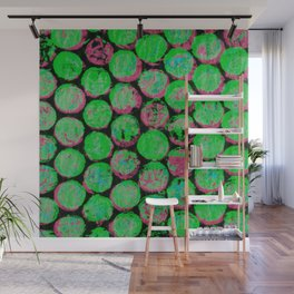Green and Pink Gumballs Wall Mural