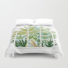 jungle greenhouse Duvet Cover