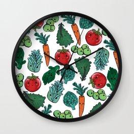 Cute vegetable pattern Wall Clock