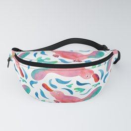 Swimming Colorful Watercolor Platypus Fanny Pack