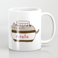 nutella Mugs featuring Nutella Cat by Wis Marvin