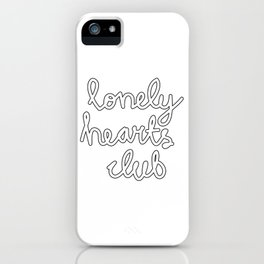 Lonely Hearts Club - Curly iPhone Case