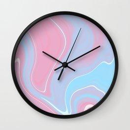 Bubblegum Marble 2 Wall Clock