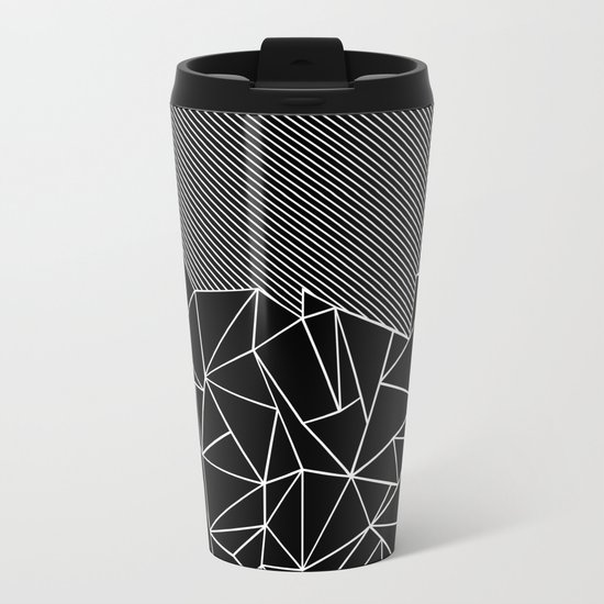 Ab Lines 45 Black Metal Travel Mug