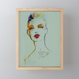 BEAUTY PORTRAIT 10/2018 Framed Mini Art Print