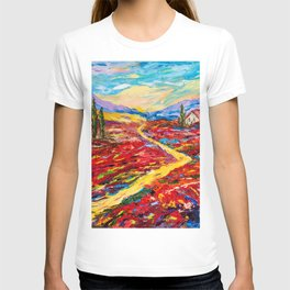 Yellow country road T-shirt