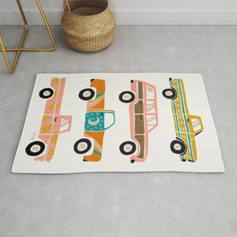 Retro Roads – White Rug