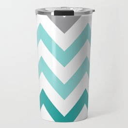 TEAL FADE CHEVRON Travel Mug