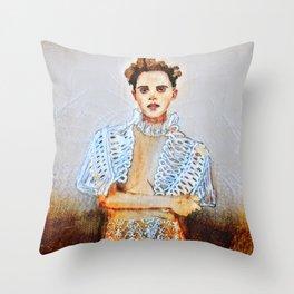 Emma grunge Throw Pillow