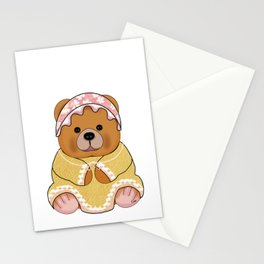 Bess brown teddy bear Stationery Cards