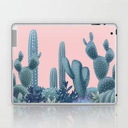 Milagritos Cacti on Rose Quartz Background Laptop & iPad Skin