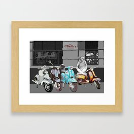 Twiggy at the Scooter Rally Framed Art Print