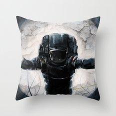 Lunar Figure  Throw Pillow