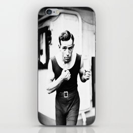 Vintage Boxer Photo Black & White iPhone Skin