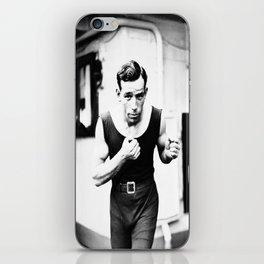 Vintage Boxer Photo Black & White iPhone Skin