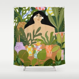 I Need More Plants Shower Curtain