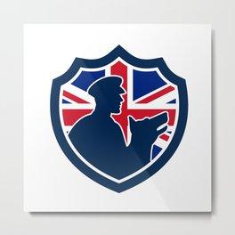 British Police Canine Team Crest Icon Metal Print