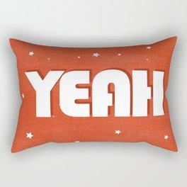 Yeah modern typography Rectangular Pillow