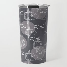 Mola Mola Grey-Ocean sunfish Travel Mug