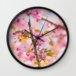 Cherry Blossoms I Wall Clock