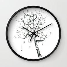 button tree Wall Clock